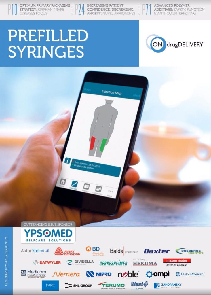 prefilled syringes oct 2016 magazine cover