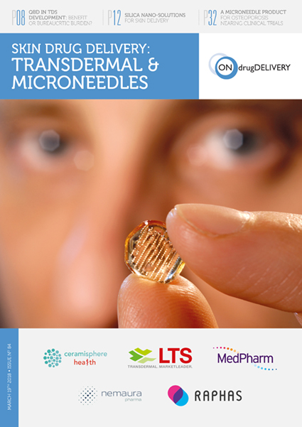 #84 Mar 2018 Skin Drug Delivery Transdermal Microneedles Issue_Cover