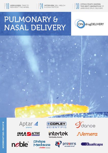 #92 - Nov 2018 - Pulmonary & Nasal Delivery Issue Cover