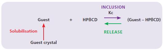 Figure 4: Inclusion complex equilibrium reaction.